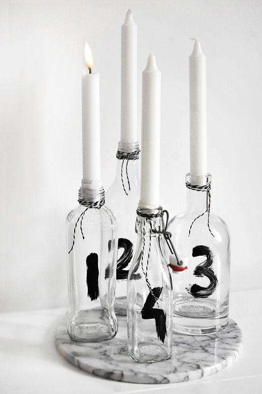 Adventskranz modern glas