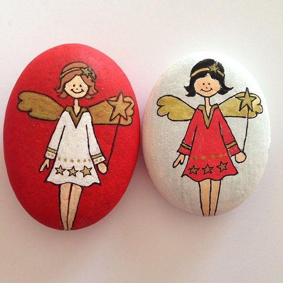 Ангелочки как идея для декупажа на камнях